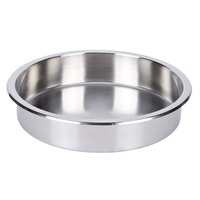 7 Qt. Replacement Stainless Steel Food Pan for Value Series 180 degrees Round Roll-Top Chafer