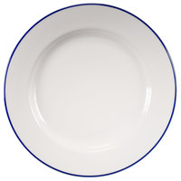 Homer Laughlin 6406031 Pristine with Kerry Cobalt Blue Rim 11 1/8 inch Round China Plate - 12/Case