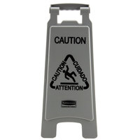 Rubbermaid 1867506 Executive 25 inch Gray 2-Sided Multi-Lingual Caution Sign