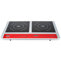 Avantco IC18DB Double Countertop Induction Range / Cooker - 120V, 1800W