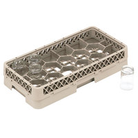 Vollrath HR1F Traex Half-Size Beige 17 Compartment  3 13/16 inch Tall Glass Rack