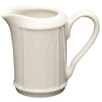 Homer Laughlin 397000 Gothic 3.25 oz. Ivory (American White) China Creamer - 36/Case