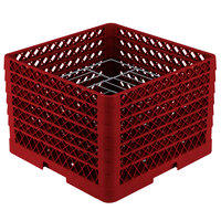 Vollrath PM1412-6 Traex Red 14 Compartment Plate Rack - 10 3/4 inch-12 5/16 inch