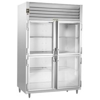 Traulsen RHT232DUT-HHG Stainless Steel 42 Cu. Ft. Two Section Glass Half Door Narrow Reach In Refrigerator - Specification Line