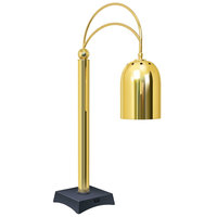 Hatco DCS400-1 Bright Brass Decorative Carving Station Lamp with Night Sky Colored Base - 120V, 250W