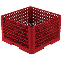Vollrath PM1510-5 Traex Red 15 Compartment Plate Rack - 9 inch-10 3/4 inch