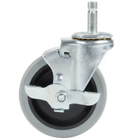 Carlisle SBCC24500 Fold 'N Go Cart 4 inch Replacement Swivel Caster with Brake