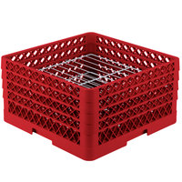 Vollrath PM2209-4 Traex Red 22 Compartment Plate Rack - 7 inch-8 3/4 inch