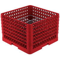 Vollrath PM1912-6 Traex Red 19 Compartment Plate Rack - 11 inch-12 inch