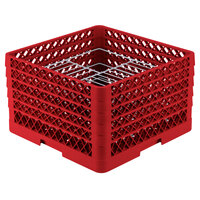 Vollrath PM2110-4 Traex Red 21 Compartment Plate Rack - 8 3/4 inch-9 3/16 inch