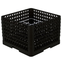 Vollrath PM1211-6 Traex Black 12 Compartment Plate Rack - 10 3/4 inch-11 3/16 inch