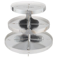 Wilton 1512-0861 3-Tier Disposable Cupcake Display Stand With Silver Borders