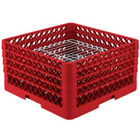 Vollrath PM3208-3 Traex Red 32 Compartment Plate Rack - 4 3/4 inch-7 5/8 inch