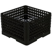 Vollrath PM1510-5 Traex Black 15 Compartment Plate Rack - 9 inch-10 3/4 inch