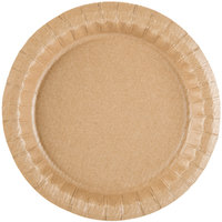 7 1/2 inch Coated Kraft Paper Plate - 100 / Pack