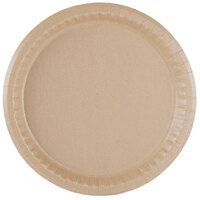 10 1/4 inch Coated Kraft Paper Plate - 100 / Pack