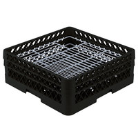Vollrath PM4806-2 Traex Black 48 Compartment Plate Rack - 5 inch-6 inch