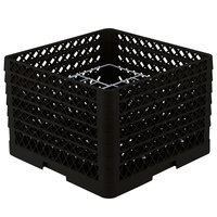 Vollrath PM1211-4 Traex Black 12 Compartment Plate Rack - 8 3/4 inch-9 3/16 inch