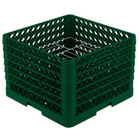 Vollrath PM1412-6 Traex Green 14 Compartment Plate Rack - 10 3/4 inch-12 5/16 inch
