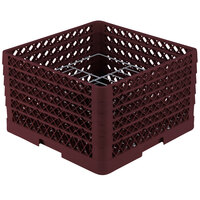 Vollrath PM1510-4 Traex Burgundy 15 Compartment Plate Rack