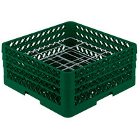 Vollrath PM2006-3 Traex Green 20 Compartment Plate Rack - 4 3/4 inch-6 1/2 inch