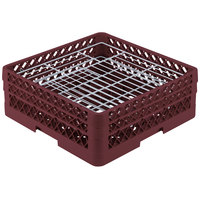 Vollrath PM3807-2 Traex Burgundy 38 Compartment Plate Rack - 5 inch-6 1/8 inch