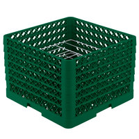 Vollrath PM0912-6 Green Traex 9 Compartment Plate Rack - 11 1/4 inch-12 1/2 inch