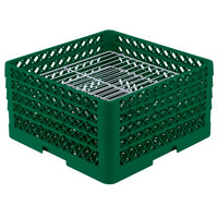 Vollrath PM3008-4 Traex Green 30 Compartment Plate Rack - 8 inch-8 3/8 inch