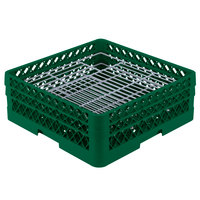 Vollrath PM4806-2 Traex Green 48 Compartment Plate Rack - 5 inch-6 inch