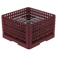 Vollrath PM2110-5 Traex Burgundy 21 Compartment Plate Rack - 9 3/16 inch-10 inch