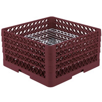 Vollrath PM3208-2 Traex Burgundy 32 Compartment Plate Rack