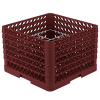 Vollrath PM1211-5 Traex Burgundy 12 Compartment Plate Rack - 9 3/16 inch-10 3/4 inch