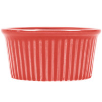 CAC RKF-2-R Festiware 2 oz. China Fluted Ramekin Red - 48/Case