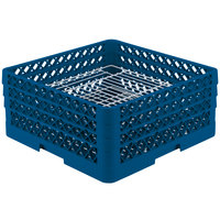 Vollrath PM4407-3 Traex Royal Blue 44 Compartment Plate Rack - 6 inch-7 inch