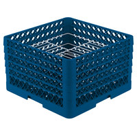 Vollrath PM2110-5 Traex Royal Blue 21 Compartment Plate Rack - 9 3/16 inch-10 inch