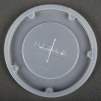 Dinex DX1196ST8714 Translucent Disposable Lid with Straw Slot for Plastic Tumblers - 1000 / Case