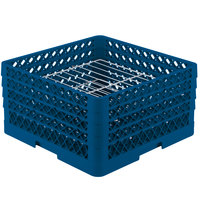 Vollrath PM2209-3 Traex Royal Blue 22 Compartment Plate Rack - 7 inch-7 7/8 inch