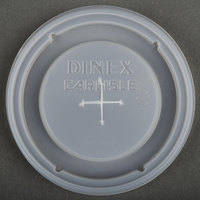 Dinex DX5900ST8714 Translucent Disposable Lid with Straw Slot for Dinex DXFT907 9 oz. Clear Fenwick SAN Tumbler and Dinex DXFT1207 12 oz. Clear Fenwick SAN Tumbler - 1000 / Case