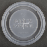 Dinex DX5600ST8714 Translucent Disposable Lid with Straw Slot for Dinex DXFT607 6 oz. Clear Fenwick SAN Tumbler - 1000 / Case