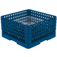Vollrath PM3208-2 Traex Royal Blue 32 Compartment Plate Rack