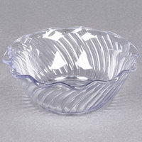 Dinex DXSWC1207 13 oz. Clear Swirl Tulip Bowl - 24/Case