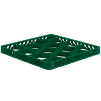 Vollrath TRJ Green Full-Size 12 Compartment Extender for Vollrath Traex Glass Racks