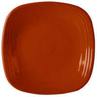 Homer Laughlin 919334 Fiesta Paprika 10 3/4 inch Square Dinner Plate - 12 / Case