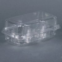 2 Compartment Clear Hinged Cupcake / Muffin Container - 24 / Pack