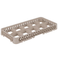 Vollrath HRC Traex Half-Size Beige 10-Compartment 1 3/4 inch Glass Rack Extender