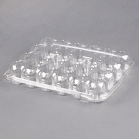 24 Compartment Clear Hinged Lid Mini Cupcake Container - 11/Pack