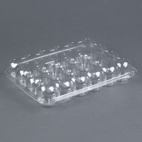 24 Compartment Clear Hinged Lid Mini Cupcake Container - 11 / Pack