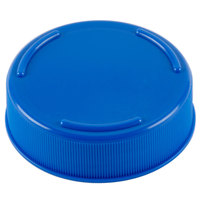 Tablecraft 53FCAPBL Solid Blue End Cap for Inverted or Squeeze Bottles with a 53 mm Opening - 12/Pack