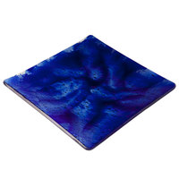 10 Strawberry Street G3000B Izabel Lam Cumulus 8 inch Blue Glass Square Plate - 12 / Case