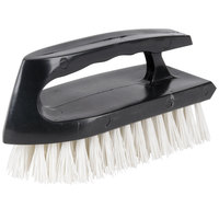 ACS B125 5 1/2 inch Scrubble Iron Handle Scrub Brush with Poly Bristles